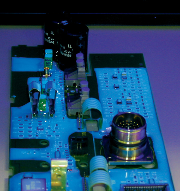 UV Inspection of a Conformally Coated PCB